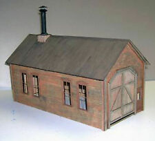 CLIMAX ENGINE HOUSE O On30 Model Railroad Unpainted Structure Laser Kit DF209
