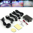 Circular Parking Sensors Car Backup Reverse Radar Rearview Mirror LED Display UL