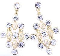 BOHÉMIEN style vintage boucles d'oreilles chandelier de cristal multiple choix