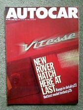 AUTOCAR MAGAZINE 25-MAY-88 - Ginetta G32, BMW 535i E34, Caterham 7, Rover 800