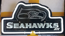 New Seattle Seahawks 3D Carved Beer Bar Lamp Light Wall Decor Neon Sign 14""