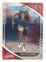 Marlon Davidson RC 2020 Absolute Football Silver Foil Rookie Card 180 Falcons DE