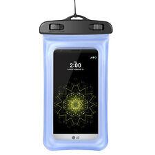 Blue Waterproof Pouch Case for LG G5 / X Power / Asus ZenFone 3 / BLU Dash X2 M2