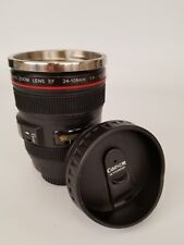 Canon Faux 24-105 Zoom Lens Ultrasonic Coffee Tea Travel Mug Cup 12 oz