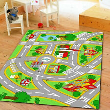 Kidsu0027 Rug With Roads Kids Rug City Street Map Children Learning Carpet Play  Rug