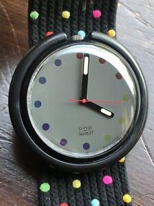 1989 POP Swatch Polka Dot Quartz Watch Working