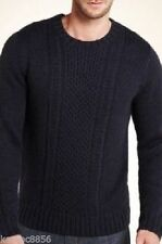 Marks and Spencer Chunky, Cable Knit Acrylic Men's Jumpers & Cardigans