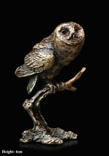 Tawny Owl Solid Bronze Foundry Cast Detailed Sculpture Butler And Peach [2059]