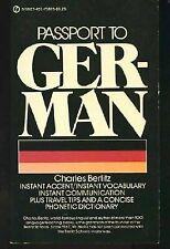 Passport to German (Signet Books) Berlitz, Charles Mass Market Paperback Used -
