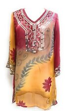 Embellished Semi Sheer Sequins Beach Swimsuit Cover-up Top One Size Fits All NWT