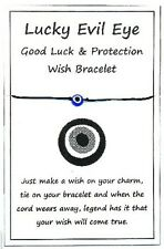 2 x Wish String Bracelet / Anklet Good Luck & Protection Lucky Evil Eye W032