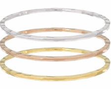 RLM Bronze Tri Color Set of 3 Flat Edge Bangles - Average