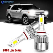 Pair 9006 HB4 LED Headlight Lamp Bulb For Ford Explorer 2004-2005 Low Beam 6000K