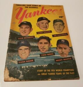 1952 Yankees Comic Book- Story of the 1951 Champs Fawcett Publications - Mantle!
