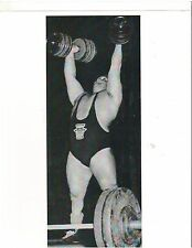 WEIGHTLIFTING Weightlifter Strongman DOUG HEPBURN Bodybuilding Photo B&W