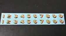 TRIANG HORNBY LIMA LNER LARGE NUMBERS X2 TRANSFERS DECAL METALLIC GOLD / RED
