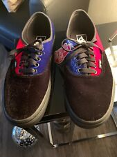 VANS Velvet Tri Tone Black Blue Red Smoking Shoes Sneaker Sz 8 M