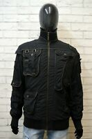 JUST CAVALLI Giubbotto Nero Piumino Uomo Taglia XL Slim Giacca Jacket Man