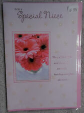"""Valentine Card with Envelope  """"For A Special Niece"""" (V-39)"""