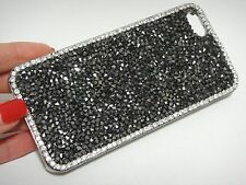 Dark Silver Clear Frame Made with Swarovski Crystal Case Cover Skin iPhone 5/5S