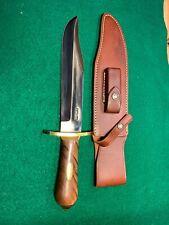 Randall Knife #12-9C Bowie with Thuya burl handle brass gaurd, pommel , spacers