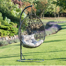 Modern Indoor & Outdoor Venice Hanging Egg Chair- 192cm Cushions included