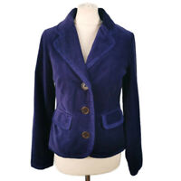 Boden 10 Plush Velvet Purple Fitted Jackets Pockets Smart Autumn Party Casual