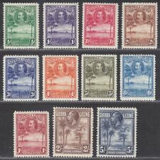 Sierra Leone 1932 KGV Rice Field Set to 5sh Mint SG155-165