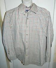 Pendleton Broadway Cloth Shirt Men's Medium Beige Plaid Cotton Long Sleeve Shirt