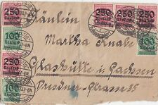 Infla-Brief mit Massenfrankatur 1923 Briefmarken Glashütte Leipzig Volkmarsdorf