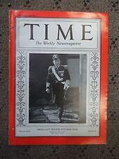 Vintage Time Magazine, Vol. 30 No. 9 Japan's Navy Minister Mitsumasa Yonai, 1937