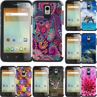 For Alcatel One Touch Elevate 5017B Slim Hybrid Case Phone Cover Mandala Paisley