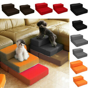 Two Step Mesh Cover Fold Stairs Ramp Dog Puppy Cat Pet Mat Portable Bed