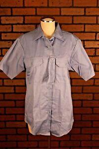 Tactical Uniform Shirt Men's XL S/S Cotton Poly Blend Blue  Police Security New