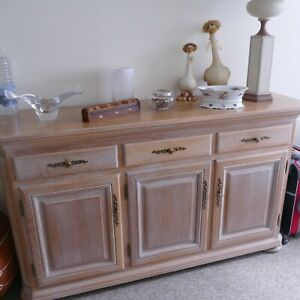 Limed Oak display solid furniture display Cabinet or Sidebaord Priced for each 1
