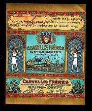 EGYPT  LABEL TOBACCO CIGARETTES CARVELLIS FRERES EGYPTIAN ARMENIAN GREEK TABBAC