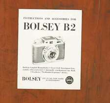 BOLSEY B2 INSTRUCTION BOOK/37903