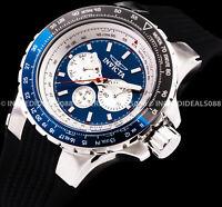 Invicta AVIATOR VOYAGE Multi Function Black Blue Silver NAUTICAL Stylish Watch