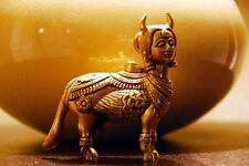 Brass Kamdhenu Cow Holy Milk Nandi Cow Statue The Wish Fulfilling Cow USA SELLER