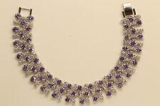 """Diamond Tennis Bracelet 18k White Gold Finish 7.5"""" 2ct Women's Engagement Gift"""