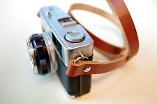 Handmade Leather Camera Neck Strap - Tan