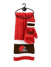 Cleveland Browns Scarf & Glove Gift Set [NEW] NFL Hat Winter Cold Scarve