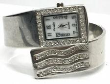 Varsales Ladies Silver Tone Rhinestone Fashion Bangle Bracelet Wrist Watch