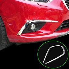 Fit For 2014 2015 Mazda 6 Chrome Front Fog Light Lamp Cover Trim Molding Strips