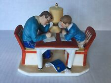 Vtg Gorham Norman Rockwell Life With Father Winter: A Tough One Figurine 1983 4""