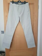Next Stretch Chinos Slim Trousers Cotton Stone Grey
