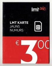 SIM Card PREPAID CELL PHONE GSM LATVIA & EUROPE LMT 3 EUR credit No registration