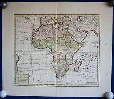 AFRIKA - schöne Landkarte von Isaak Tirion um 1750 Original
