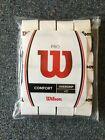 NEW Wilson Pro Comfort Tennis Overgrip White 12-Pack w/Waterproof zipperd Bag