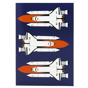 Design Set Raumfahrt – Notizheft A6: Space Shuttle Raumfähre Atlantis Challenger